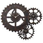 "24"" QA Gear Wall Clock Industrial Home Decor Mechanical Art Large Time Keeper"