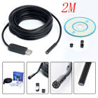 US HOT 2M 5.5mm Waterproof Endoscope Mini HD  Lens Cable 6 LED for Android PC MA