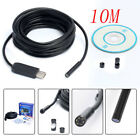 10M 5.5mm Waterproof Endoscope Mini HD Camera Lens Cable 6 LED for Android PC MA