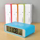 Tabletop Bedside Travel Clock 3 Group Alarm Clock Snooze 5/7 Work Blue