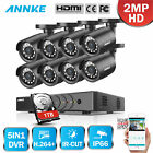 "ANNKE WIFI 7"" TFT LCD Monitor DVR 4CH Wireless HD Metal Security Camera System"