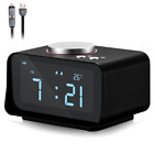 Digital Alarm Clock Radio Dual USB Charger Port Indoor Thermometer AUX Speaker