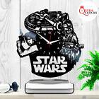 Star Wars Han Solo Chewbacca Millennium Falcon Vinyl Record Wall Clock Gift