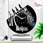 The Beatles Music Abbey Road Zebra Crossing Vinyl Record Wall Clock Fans Gift LP