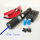 BW1 450nm High Power Adjustable Focus Blue Laser Pointer Strong Burn Matches