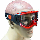 Tuzo Motocross MX Enduro Off Road Quad Goggles Adult Red Goggle & Lens Kit