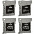 4 Pack - 200g Activated Charcoal Deodorizer Odor Neutralizer Bags, Unscented Air