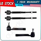 Brand (4pc) Outer & Inner Tie Rod  End Suspension for 2007 - 2012 Nissan Sentra