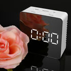 Funny Mirror LED Alarm Multifunction Digital Electronic Temperature Snooze Clock