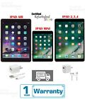 Apple iPad 2,3,4 Mini Air 16GB 32GB 64GB 128GB WiFi+Cellular 9.7|7.9In Black