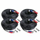 Sannce 4-Pack 100ft BNC Video and Power Security Camera Cable with BNC and RCA