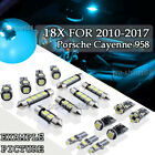 18x Ice Blue LED SMD Interior lights Canbus for Porsche Cayenne 958 10-2017 PL