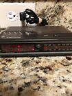 Ge Digital Clock Radio Batery Back Up wood grain vintage