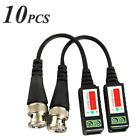 10Pcs Passive Video Balun BNC Connector Coaxial CAT5 Cable Adapter CCTV Camera