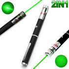 2IN1 High Powerful 10mW 532nm Green Beam Laser Pointer Lazer Projector Pen D