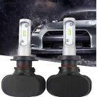 2x Car SUV H7 180W 18000LM LED Headlight Kit Single Beam Bulbs White Power 6500K