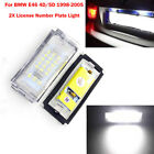 2X License Number Plate Light Bulbs 3528 LED Canbus For BMW E46 4D/5D 1998-2005