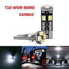 4x T10 501 W5W CANBUS ERROR FREE 8 SMD LED XENON HID PURE WHITE SIDE LIGHT BULBS