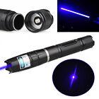 10 Miles 445nm Blue Light Laser Pointer Pen Strong Beam Focus Cigarette Lighter