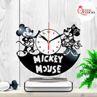 Disney Mickey Mouse Minnie Vinyl Record Wall Clock Kid Room Decor Birthday Gift