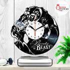 Disney Beauty and the Beast Rose Vinyl Record Wall Clock Xmas Gift Decor Items