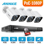 ANNKE 8CH 6MP POE NVR WD 0~4TB HDD 1080P 2MP 4mm/85° White Bullet IP Cameras kit