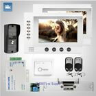 "HOMSECUR 7"" Video&Audio Home Intercom+Metal Case Camera for Home Security 1C2M"