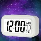 Digital LED ABS Table Alarm Clock Temperature Timer Date Backlight White
