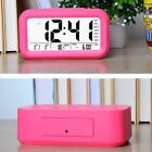 LCD Screen Digits Alarm Clock Date Display Temperature Nightlight Clock Pink