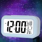 LCD Screen Digital Alarm Clock Date Display Temperature Display Clock Blue