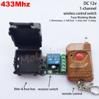 DC 12V 433MHz Relay 1CH Wireless RF Remote Control Module Transmitter + Receiver