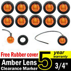 "10 Pcs TMH 3/4"" Inch Mount Amber LED Clearance Markers Bullet Marker lights, sid"