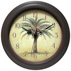 12 Inch Cabana Themed Clock Infinity Instruments 12884BR-2908