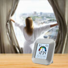 Desk Touch Screen LCD Clock Timer Temperature Humidity Thermometer Tool