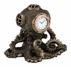 Nautical Steampunk Octopus Diving Bell Clock Statue Sculpture  GREAT GIFT!