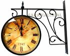 Victoria Station Double Sided Railway Clock Functional Clock Home Decor