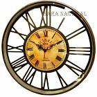 Nautical Brass Anique Clock Victoria Station Clock 1747 London Collectibles