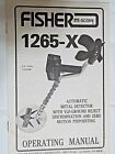 VINTAGE FISHER 1265-X METAL DETECTOR OWNERS OPERATING MANUAL