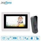 JeaTone 7''LCD Video Door Phone Doorbell Intercom with Waterproof Camera Monitor