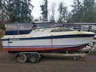 1976 Cruiser Yacht Powerboat w Trailer, Olympia WA | No Fees & No Reserve