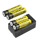 4x 18650 High Energy 3.7V Li-ion 5000mAh Ultra Power Lithium Battery +Charger US