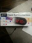 gpx clock radio with dual alarm