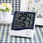 LCD Digital Temperature Humidity Meter , Thermometer Hygrometer Alarm Clock D