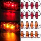 16X(Amber,Red)2.5'' 2 Led Mini Side Marker  Clearance Light Waterproof Trailer
