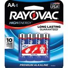Rayovac 815-4J Pack Of 4 AA Alkaline Batteries