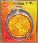 """NOS UNIVERSAL REFLECTOR - 3"""" Round Amber - Peterson Mfg V472A"""