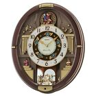 Seiko Danube Melodies in Motion Wall Clock - 15.75 in. Wide, Gold