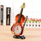 New Alarm Clock Home Desk Table Clock Instrument Violin Unique Desk Decor DG