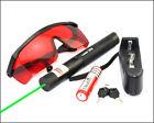 GR5 532nm Green Laser Pointer Adjustable Focus Li Battery&charger&Red Goggles
