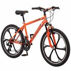 Boys Mountain Bike 24 Inch 21 Speed Comfort Road Bicycle Riding Steel Frame Ride